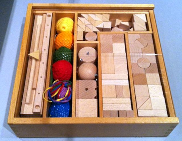 Picture: Friedrich Fröbel- Construction kit- 1782-1852- SINA Facsimile. Systems design- The Ulm school. Exhibit at Disseny Hub Barcelona- DHUB. Retrieved from Wikimedia Commons. Kippelboy - licensed under the Creative Commons Attribution-Share Alike 3.0 Unported license.