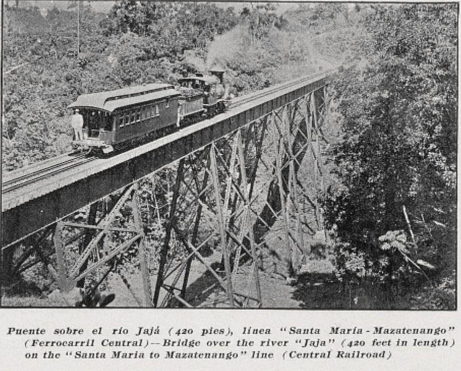 Ferrocarril sobre río Jajá 1909