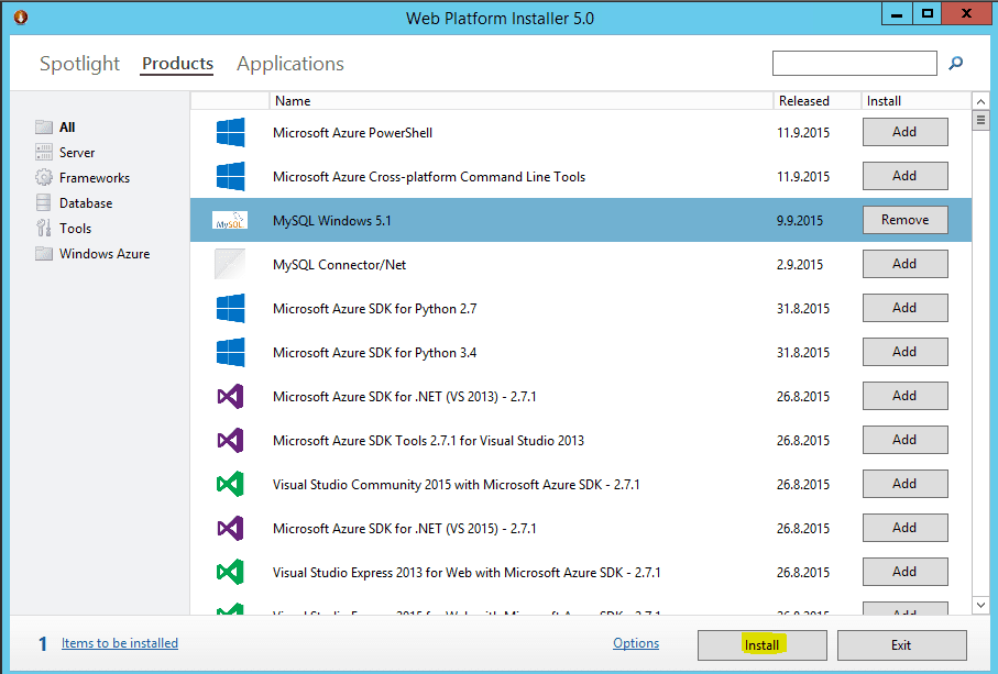 Web Platform Installer 5.0