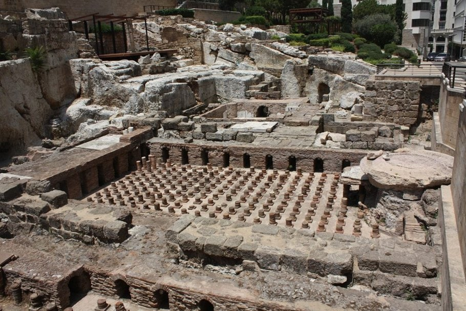 Roman Bath Beirut Lebanon Tour by Lebanon Expedition
