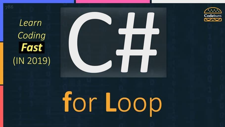C# for loop