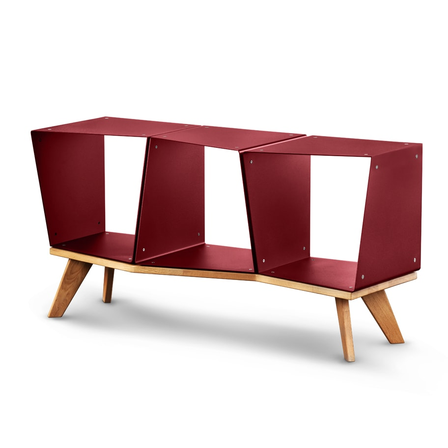 Sideboard TV Regal weinrot