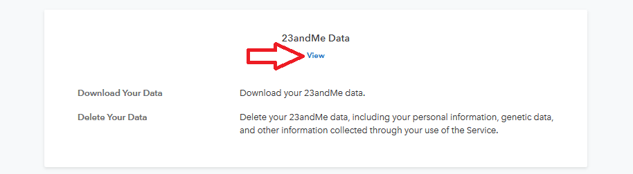 How to access 23andMe data from test settings