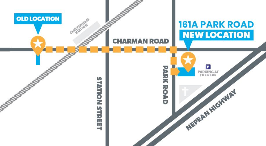 New locations 161 Park Road, Cheltenham