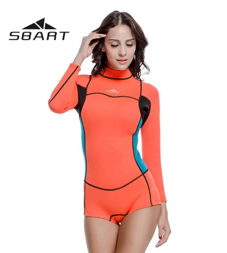 AliExpress Wetsuit for Women Men Onepiece Kite Surfing Snorkeling Swimwear Swimsuit Scuba Diving One-Pieces Suit Beach SBART 2mm 1