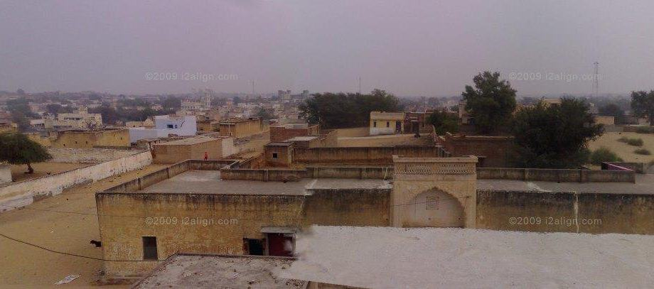 Paranormal View of Bissau City in Jhunjhunu, Rajasthan