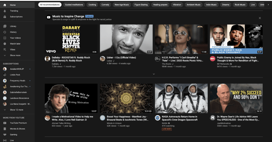 new youtube dark mode
