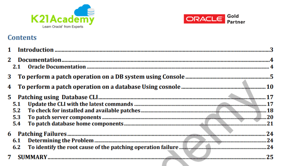 Patching DB System