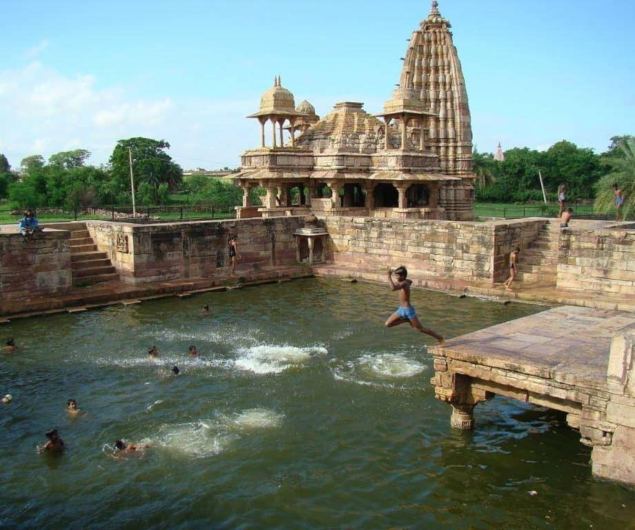 Mandakini Temple & Pond at Bijolia city in Bhilwara, Rajasthan