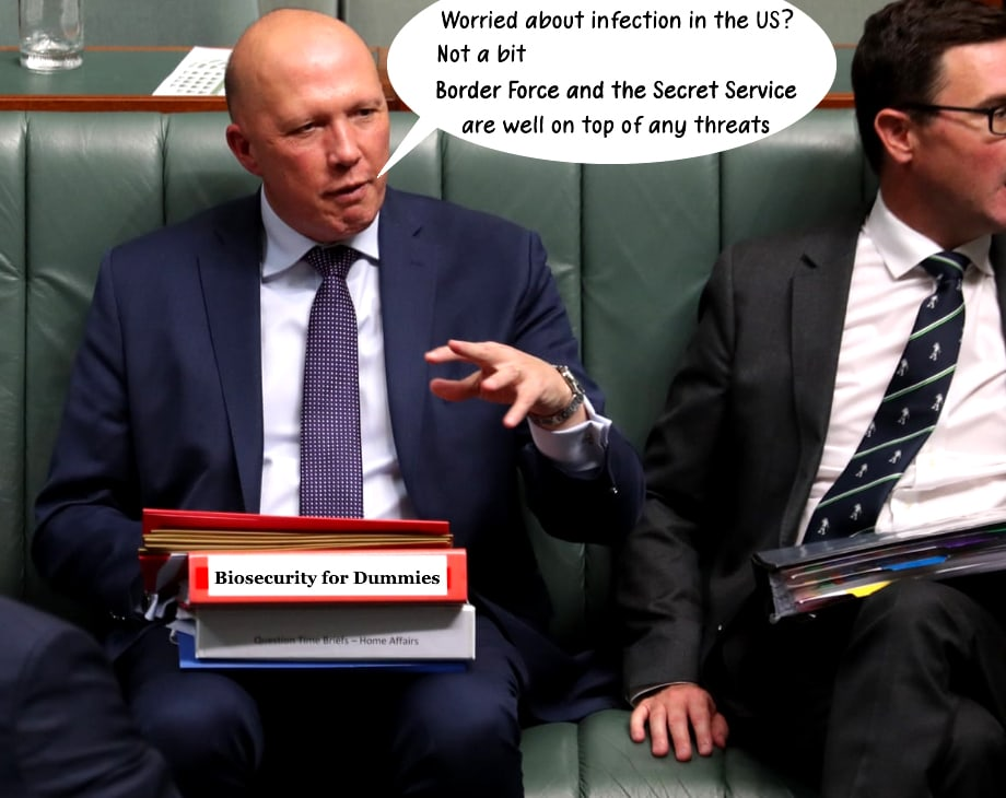 "Peter Dutton's 'Friday the 13th' Coronavirus infection – Blue ticks and ""Twitter crazies"""