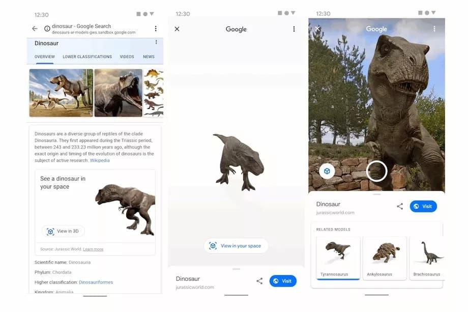 Dinossauros Google