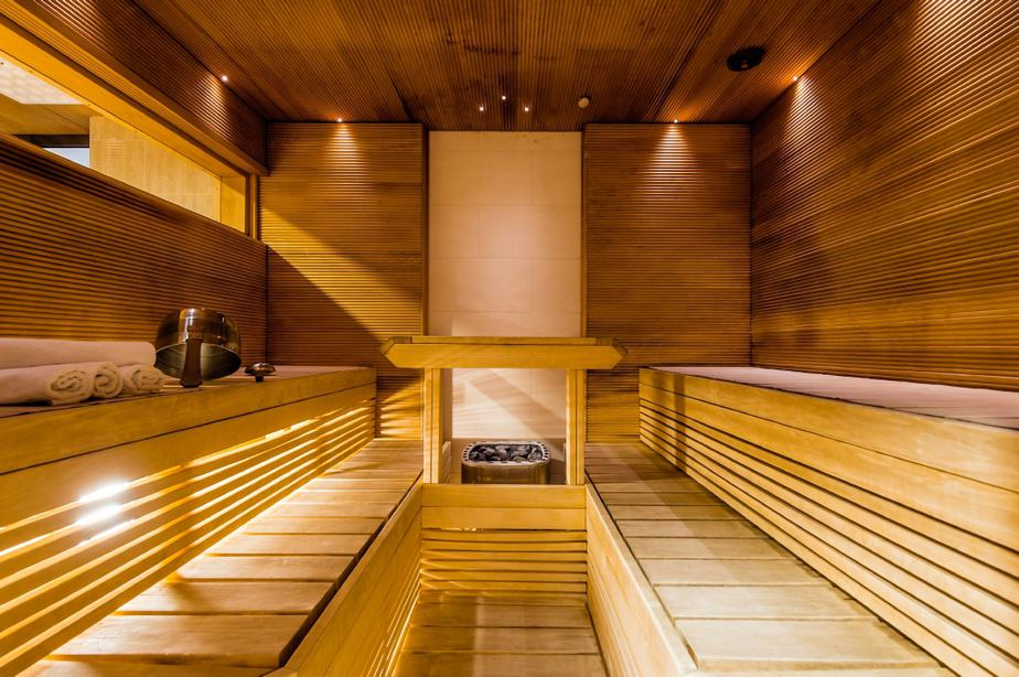 An example of typical sauna