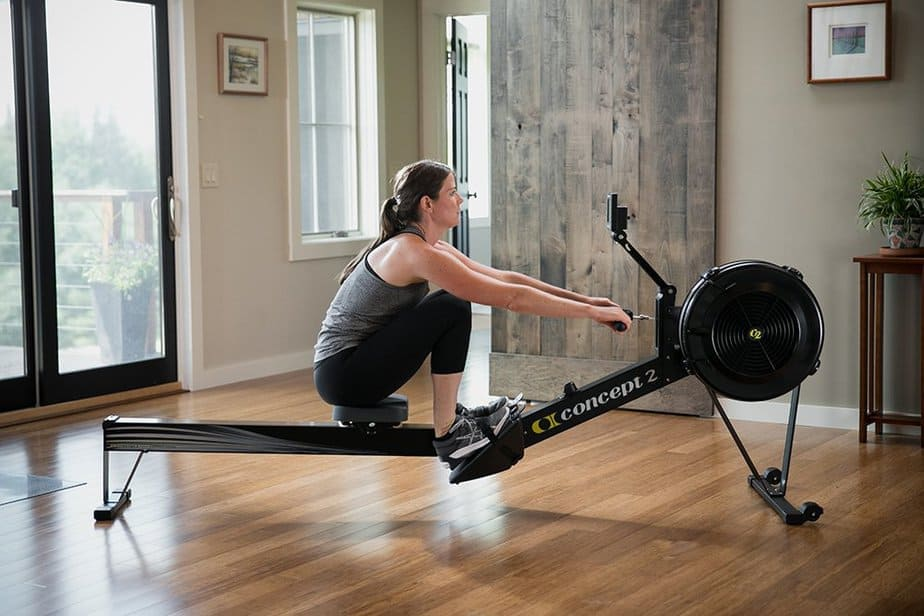 A rowing machine for training at home