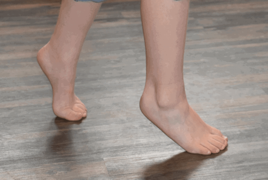 One of prevention methods of flat soles - walking on the toes .