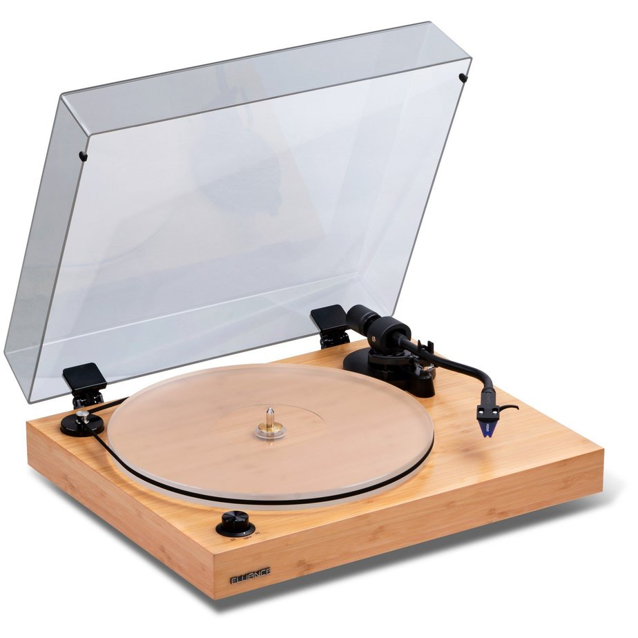 Light wood grain high end turntable