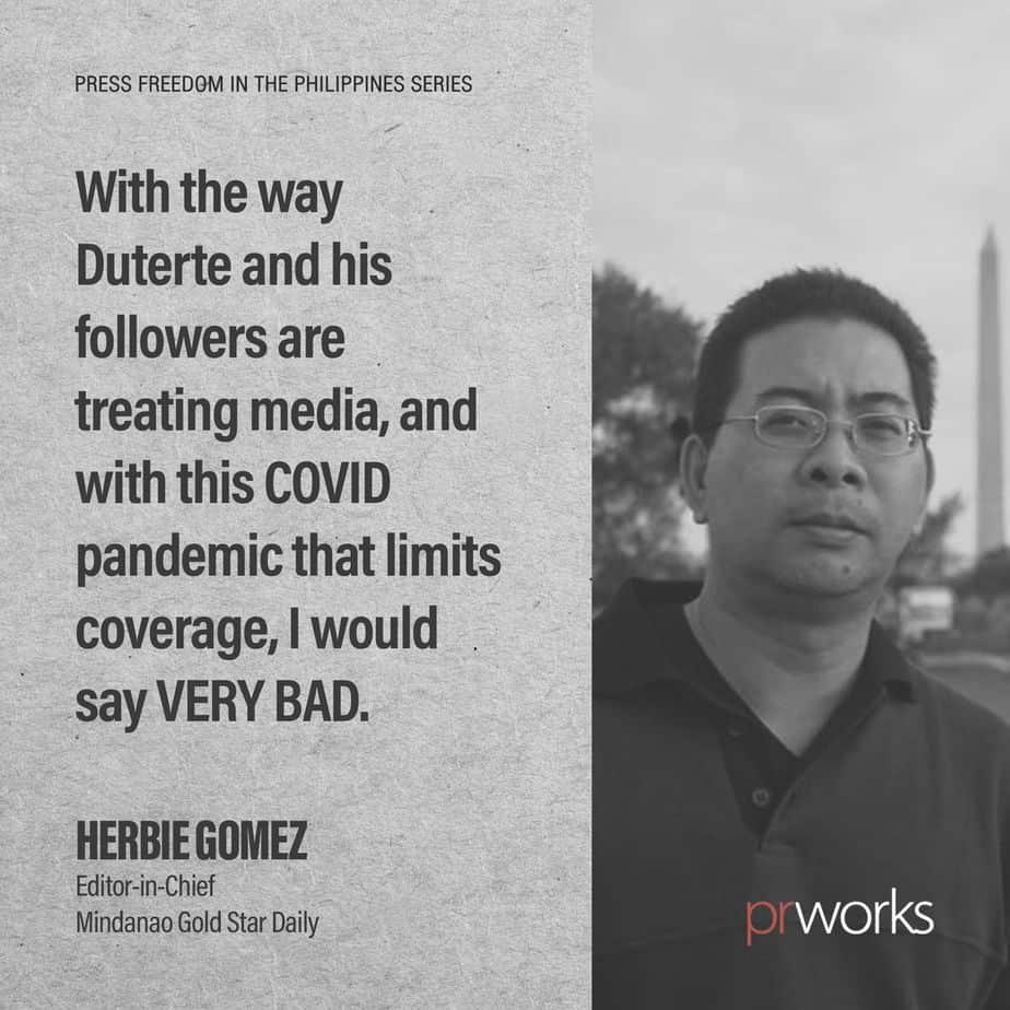 Herbie Gomez of Mindanao Gold Star Daily