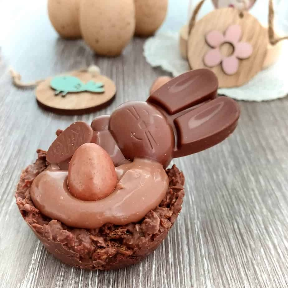 Gluten free Chocolate Cream Nests for Easter Treats Recipe