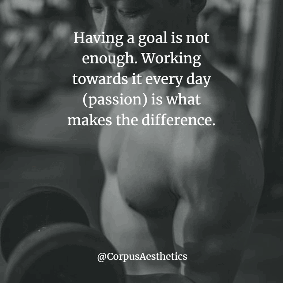 gym shark motivational quotes, Working towards it every day (passion) is what makes the difference, a guy is weightlifting