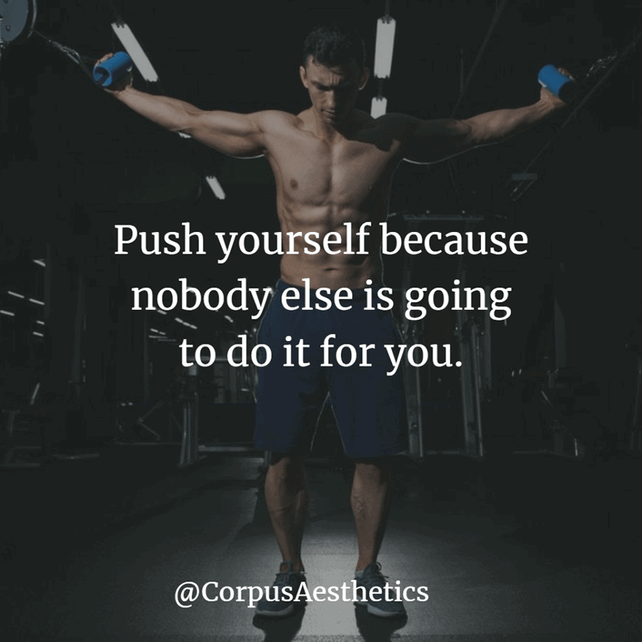 gym inspiration, Push yourself because nobody else is going to do it for you, a guy has a training in the gym