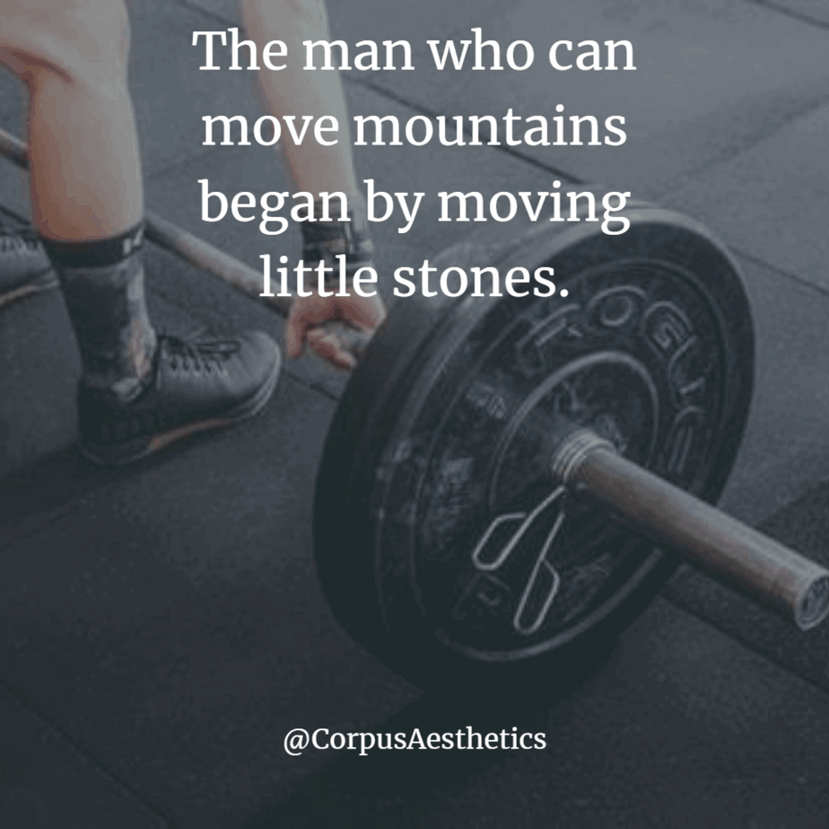 weight lifting motivational quotes, the man who can move mountains, a guy is having a weight training