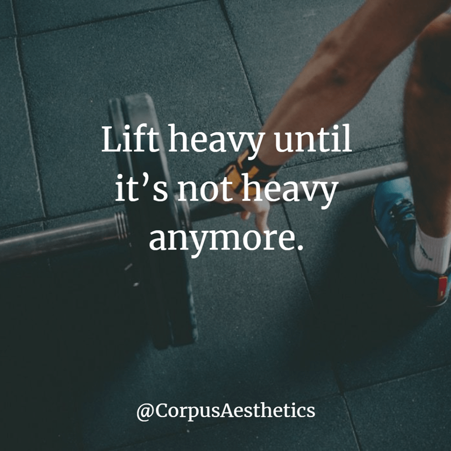 weight lifting motivational quotes, Lift heavy until it's not heavy anymore, a guy is preparing for weightlifting
