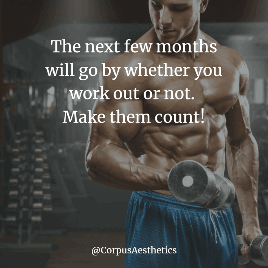 weight lifting motivational quotes, The next few months will go by whether you work out or not, a guy is lifting weights