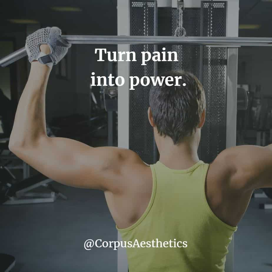 weight lifting motivational quotes, Turn pain into power, a guy has a weightlifting training at the gym