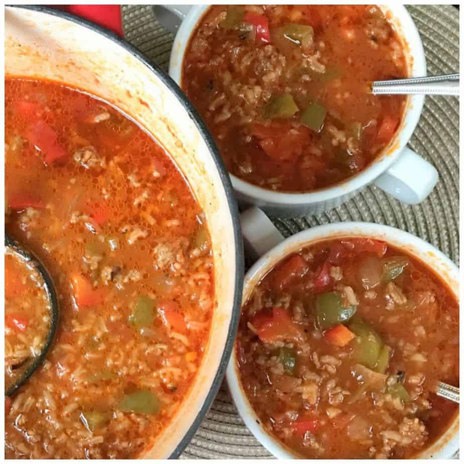 Bowl Licking Good 30 Minute Stuffed Pepper Soup