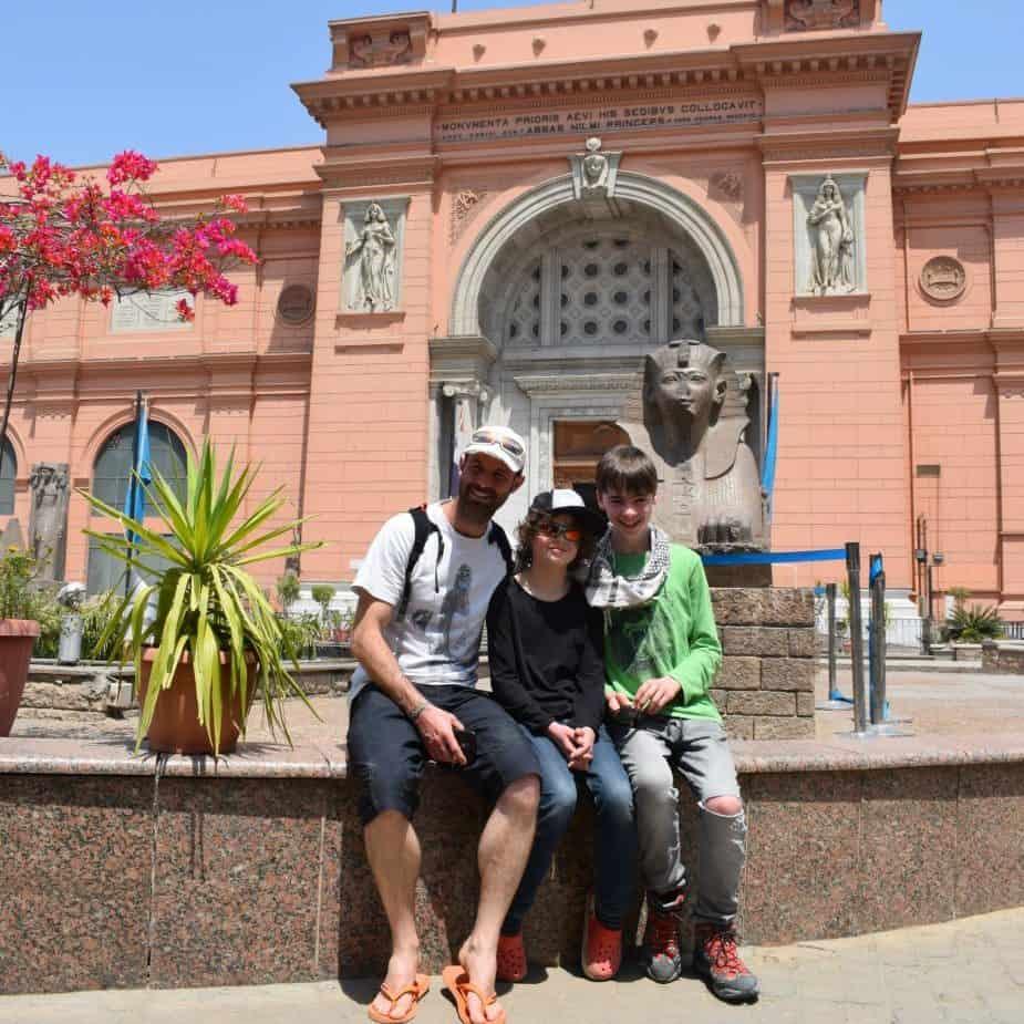 Homeschooling at the Egyptian museum