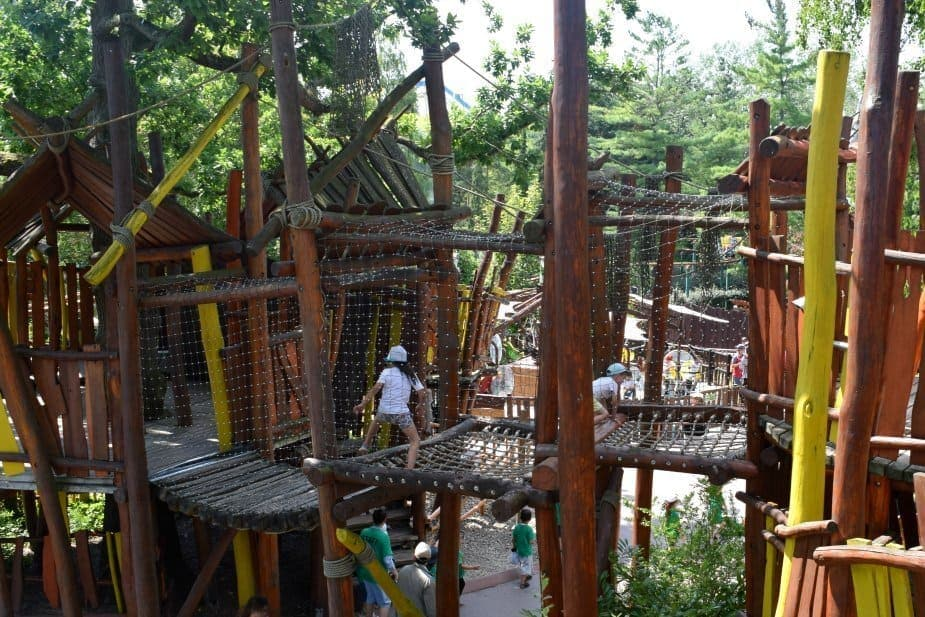Adventure playground at parc asterix for younger children
