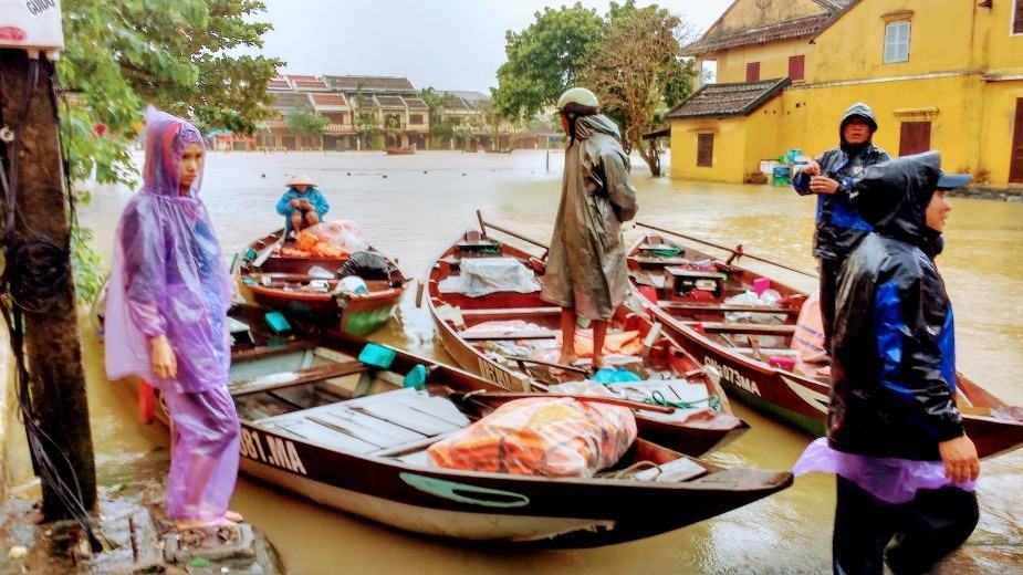 Hoi An Flooding 2017 near the covered bridge