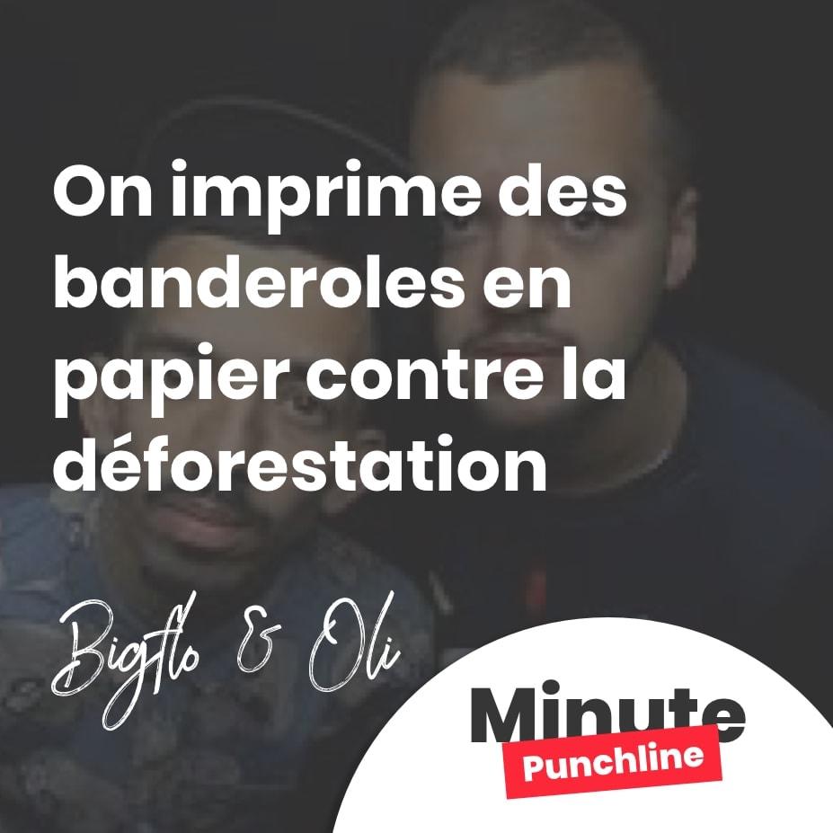 On imprime des banderoles en papier contre la déforestation
