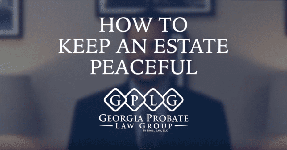 How to Keep an Estate Peaceful