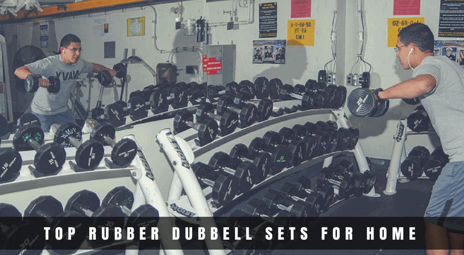 rubber dumbbell set