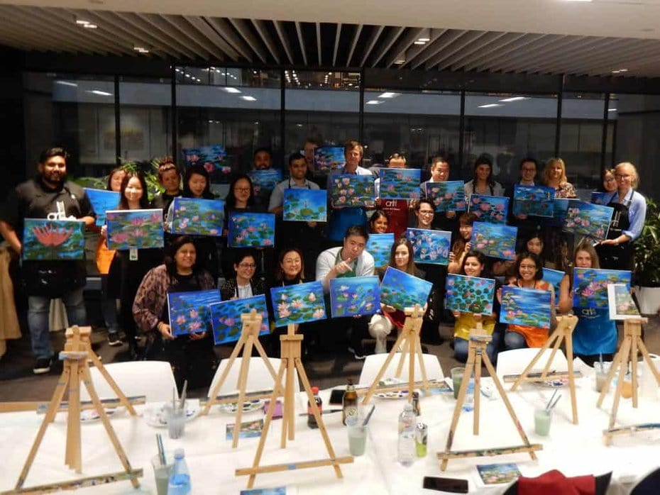 paint and sip in Melbourne