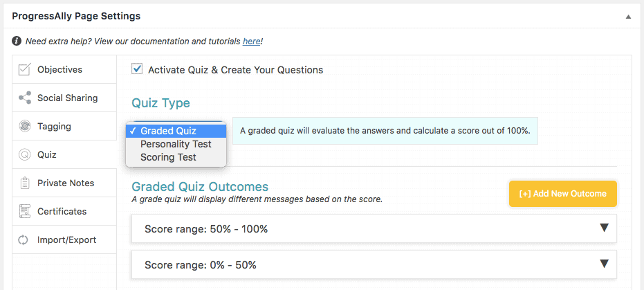 Screenshot quiz graded quiz