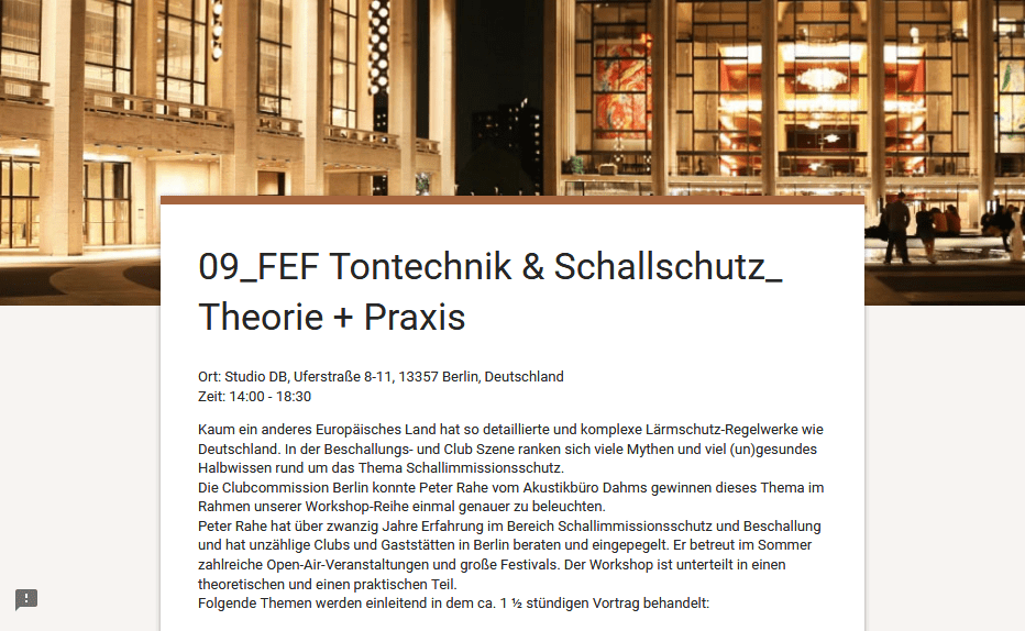 Tontechnik Schallschutz -Theorie-Praxis