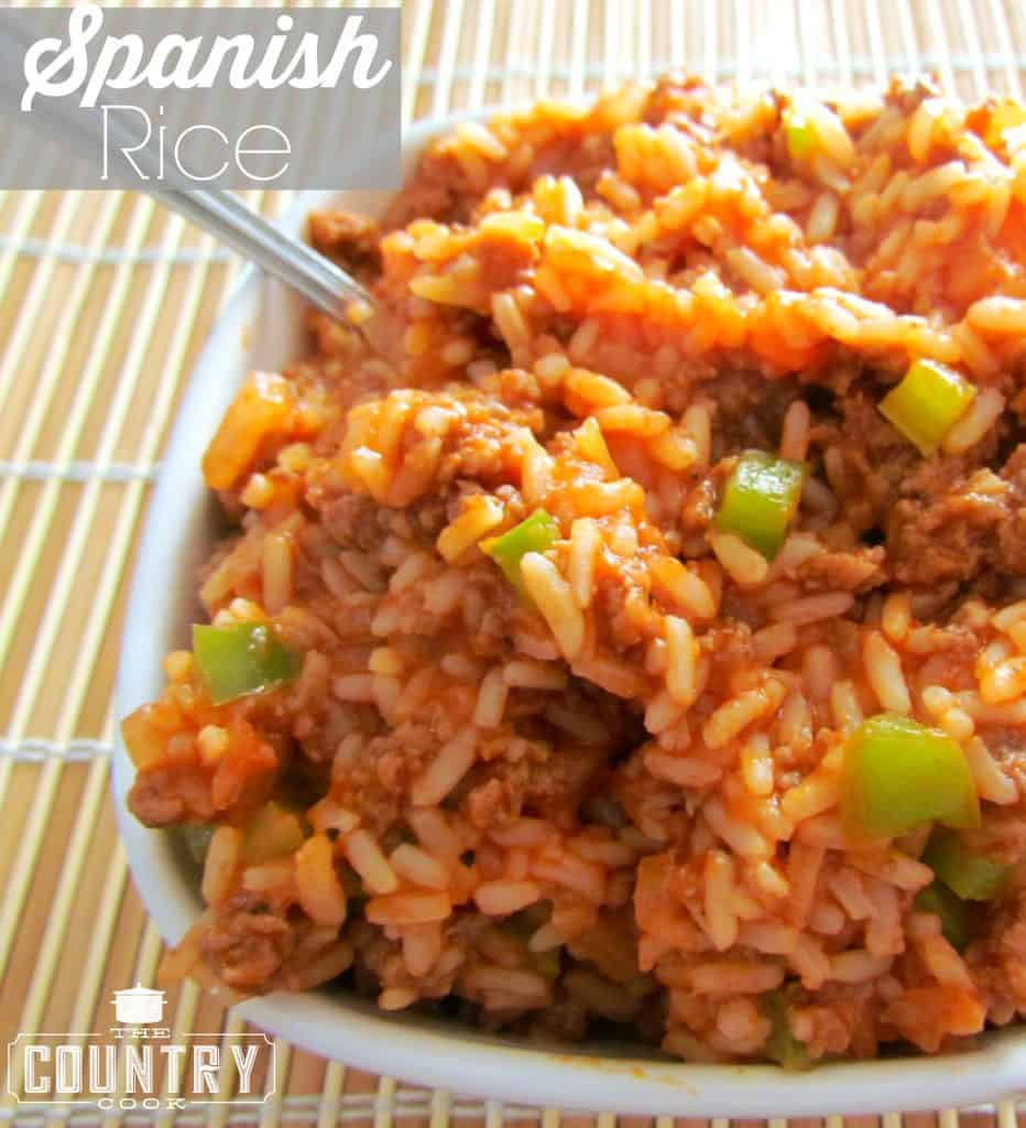 Spanish Rice recipe from The Country Cook