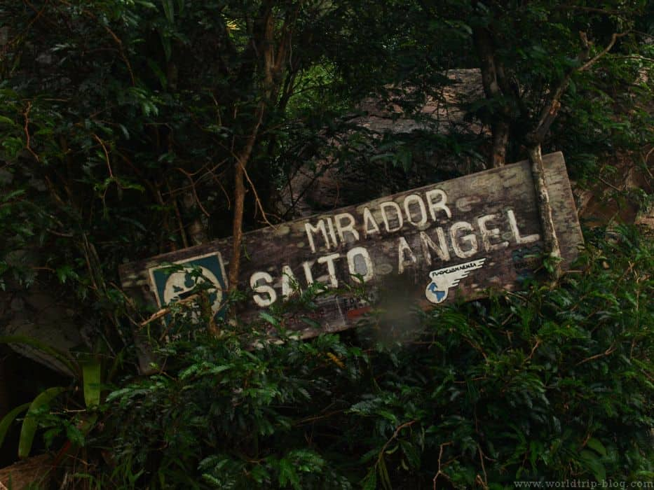 Angel Falls Sign