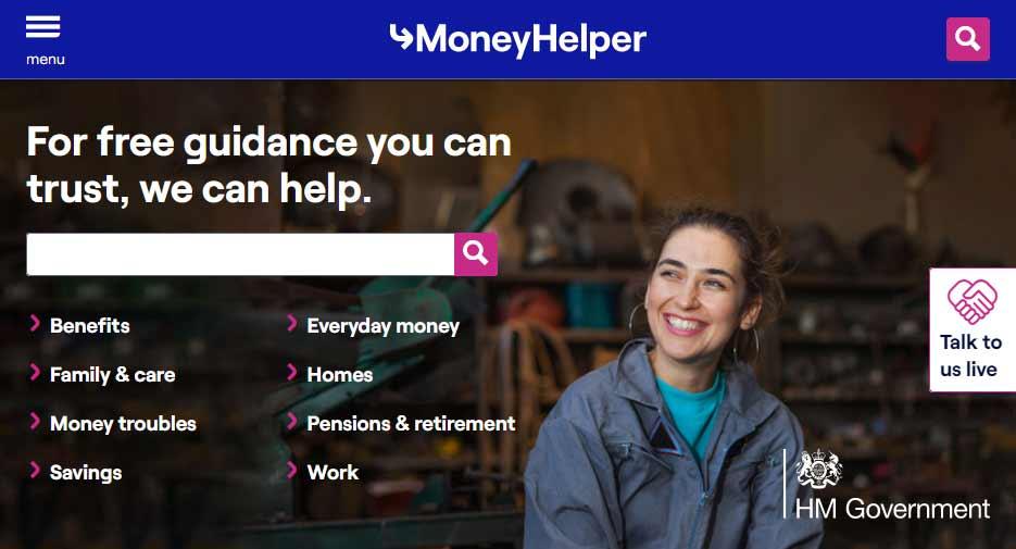 Money Helper - Formerly the Money Advice Service