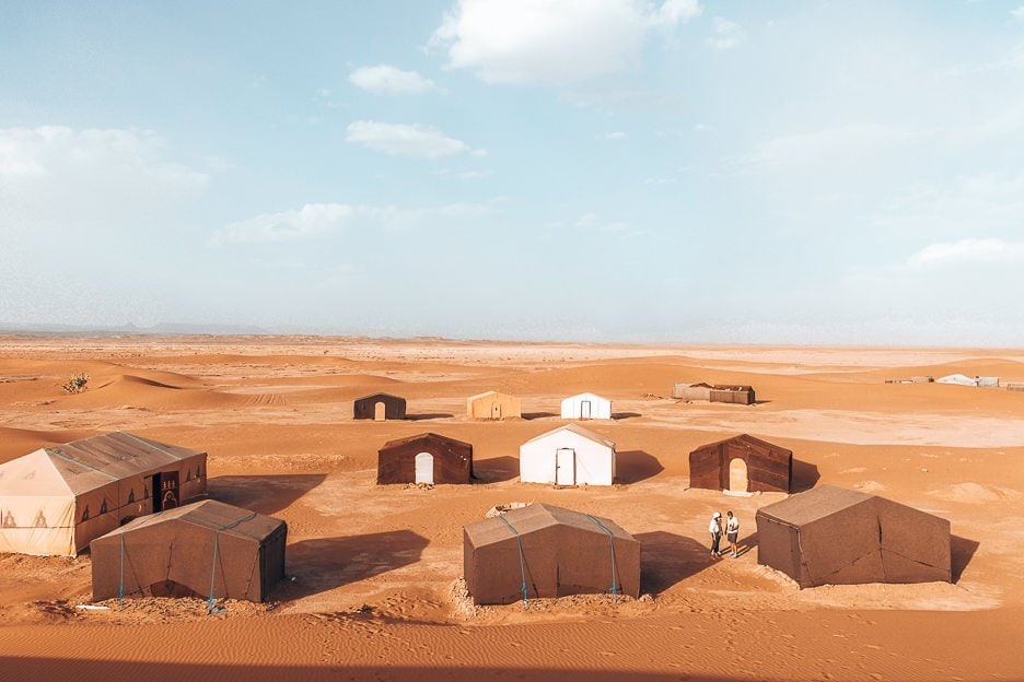 Tents at a campsite in the Sahara Desert, Morocco