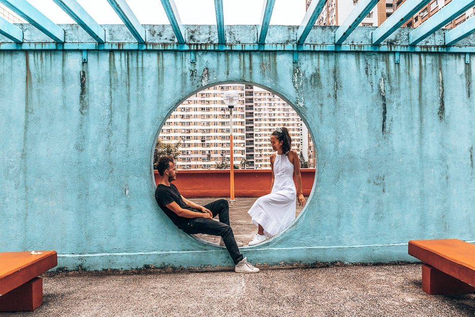 Taking your own couples pictures - breaking the rule of thirds