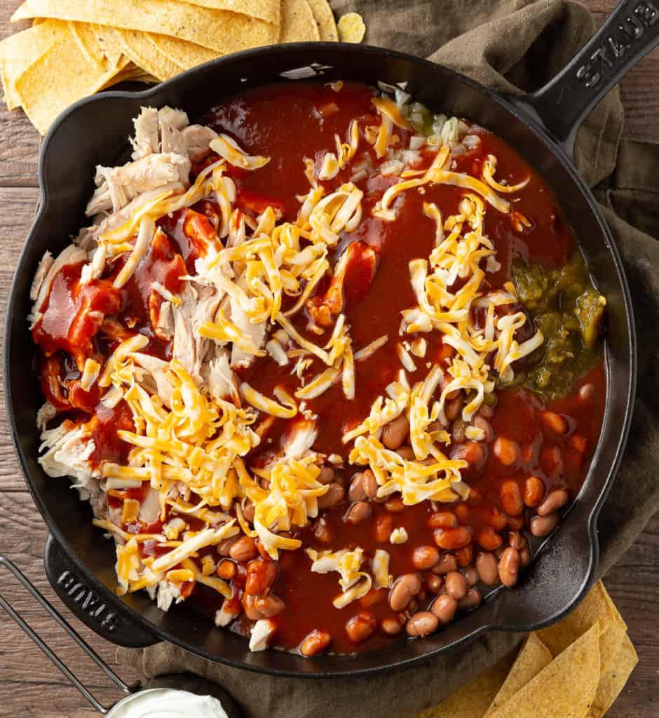 easy enchiladas made in skillet