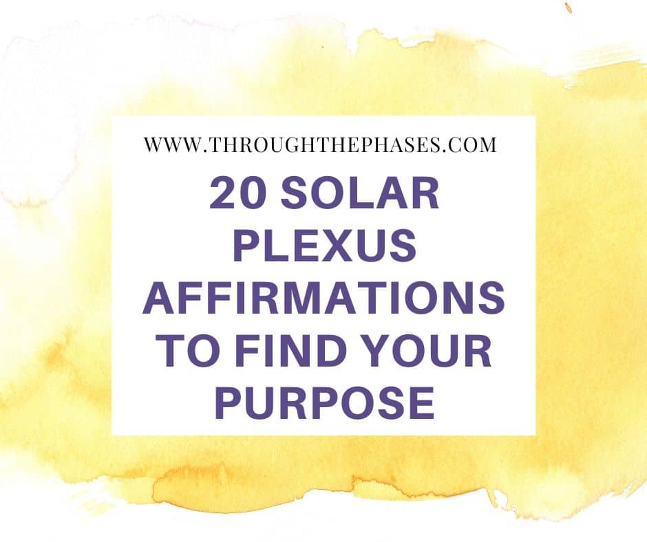 powerful solar plexus affirmations