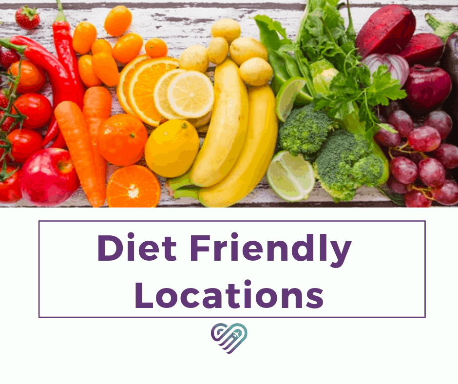 Discover Corps Diet Friendly Locations Guide [Infographic]