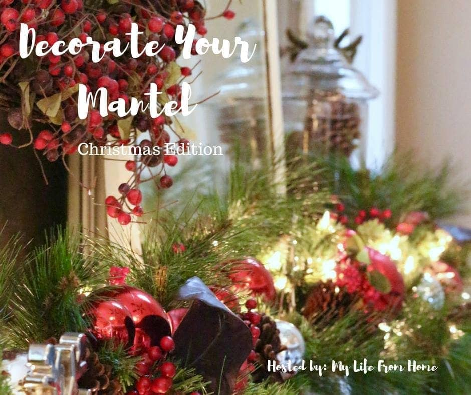 Decorate you Mantel Series: Christmas edition. See how your favorite bloggers decorated their mantel for the holidays. Housefulofhandmade.com