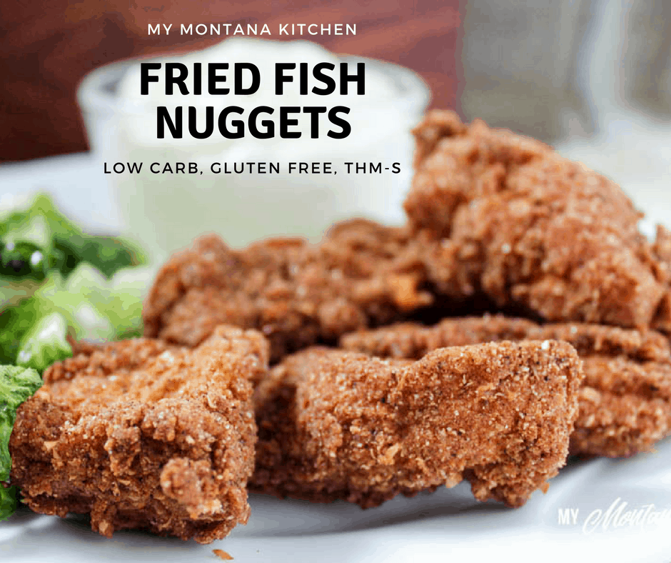 Low Carb Fried Fish Nuggets (Gluten Free, THM-S) #trimhealthymama #thm #friedfish #lowcarb #glutenfree #fishnuggets