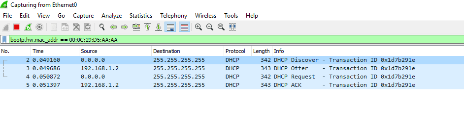 How to Filter MAC Address in DHCP Traffic with Wireshark