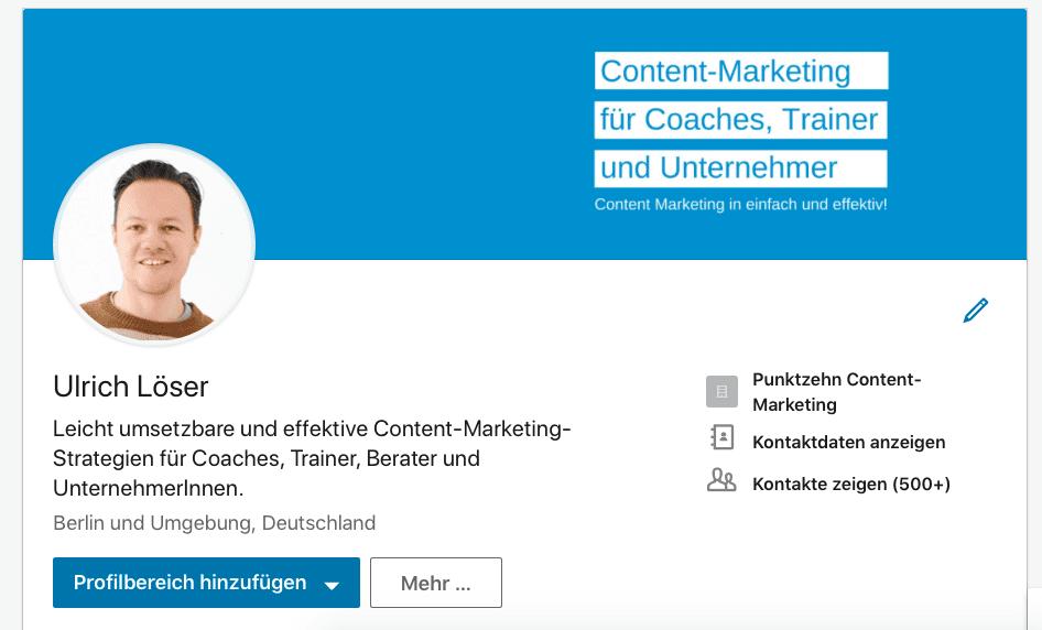 LinkedIn Profil Slogan