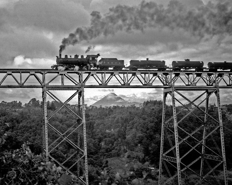 Puente las Vacas y ferrocarril